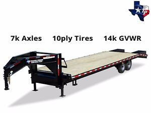 New 8 1 2 X 25 20 5 Gooseneck Deckover Equipment Trailer 14k Gvwr