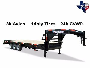 New 8 X 25 20 5 Gooseneck Deckover Equipment Trailer 24k Gvwr