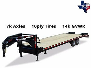 Texas Pride 8 1 2 X 30 25 5 Deckover Gooseneck Equipment Trailer 14k Gvwr