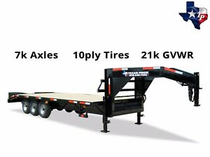 New 8 X 25 20 5 Gooseneck Deckover Equipment Trailer 21k Gvwr