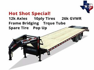 New 40 35 5 Gooseneck Deckover Equipment Trailer 26k Gvw Hotshot Special