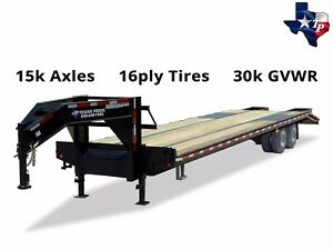 Texas Pride 8 X 25 20 5 Gooseneck Deckover Equipment Trailer 30k Gvwr