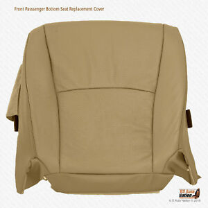Front Left Bottom Perforated Leather Cover Tan For 2005 2006 Toyota Highlander