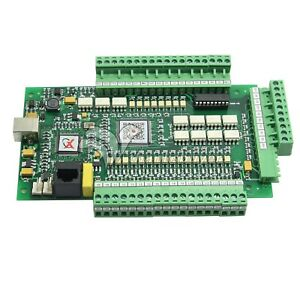 3axis Mach3 Usbcnc Stepper Motor Controller Motion Card 0 10v Breakout Board Us