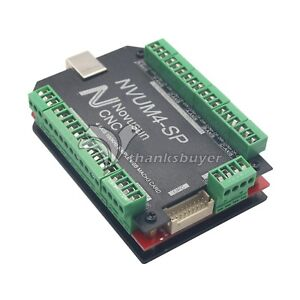 Usbmach3 Interface Board Card 4 Axis Controller Cnc 100khz For Stepper Motor Us