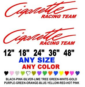 Cigarette Racing Team Stickers Decals Any Color Any Size Boat Fishing