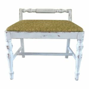 Antique Shabby Chic Chair Piano Bench
