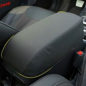 Fits Jeep Cherokee 2011 2019 Microfiber Leather Center Console Armrest Cover Rd