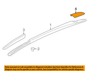 Buick Gm Oem Enclave Roof Rack Rail Luggage Carrier Rear Cover Left 84064621