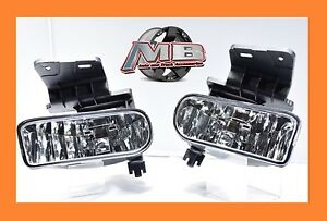 Replacement Clear Fog Lights 1999 2002 Silverado 2000 2006 Tahoe Suburban New