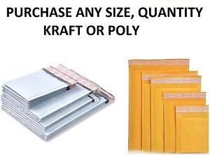Choose Between Kraft Or Poly Bubble Mailers Padded Shipping Mailing Bags Padded
