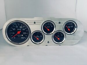 1963 1964 1965 Nova 5 Gauge Dash Cluster Black