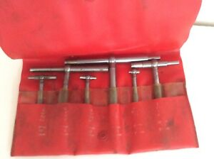 Vintage Starrett No 579 h Telescoping Gauge 6 Pc Set Self centering 579 a To F