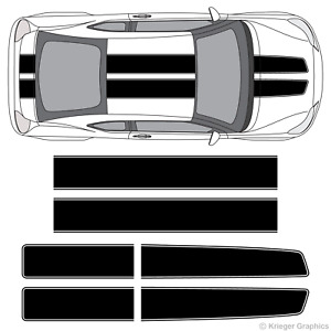 Scion Tc Or Fr s Ez Rally Racing Stripes 3m Vinyl Stripe Decals Graphics