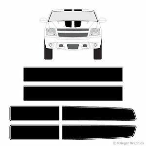 Chevy Avalanche Ez Rally Racing Stripes 3m Vinyl Stripe Decals Graphics