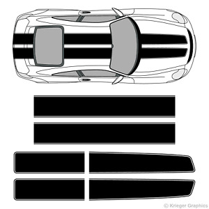 Porsche 718 Or 911 Ez Rally Racing Stripes 3m Vinyl Stripe Decals Graphics