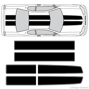 Chevy Monte Carlo Ez Rally Racing Stripes 3m Vinyl Stripe Decals Graphics