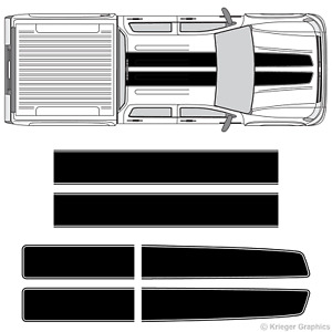 Chevy Silverado Sierra Ez Rally Racing Stripes 3m Vinyl Stripe Decals Graphics
