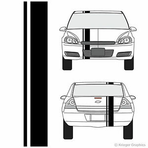 Chevy Impala Single Offset Rally Racing Stripes 3m Vinyl Stripe Decals
