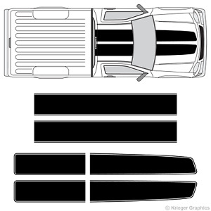 Chevy Colorado Canyon Ez Rally Racing Stripes 3m Vinyl Stripe Decals Graphics