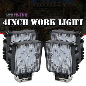 2x 5inch 27w Round Led Work Light Bar Spot Jeep Offroad Driving Fog Lamp 12v Vp