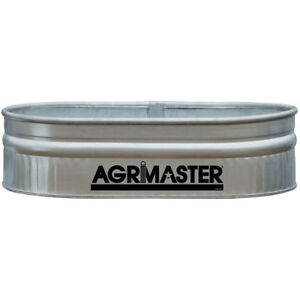 Stock Feed Tank 44 gal Shallow Galvanized Round End Livestock Water Trough Pool