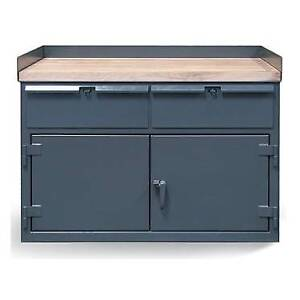 Stronghold Benchmax Cabinet Work Bench With Two Drawers And Maple Top Benchmax