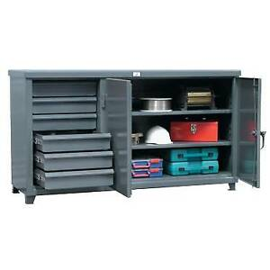 Stronghold Benchmax Cabinet Work Bench With Half Width Drawers Benchmax c