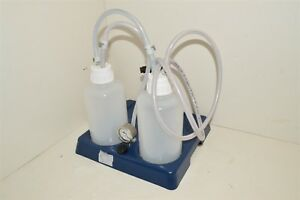 Knf Lab Laboport Vacuum Pump Liquid Filtration Bottle Regulator Tray Kit