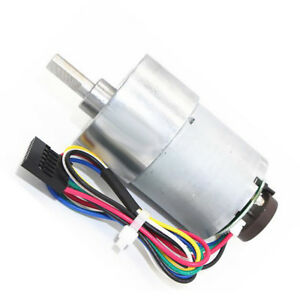 Dc 24v Mini Metal Speed Reduction Gear Motor Code Disk With Encoder Speed