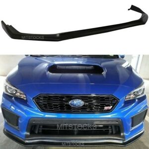08143f7973a Fits For 2018. Fits For 2018 Subaru Wrx Sti Cs Style Front Bumper Lip  Spoiler Body Kit Pu