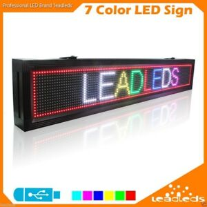 Rgb Led Display Board Waterproof Outdoor Programmable Advertising Business Signs