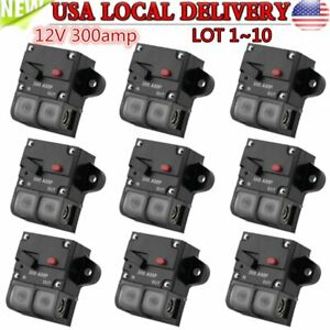12v 300amp Car Stereo Audio Protection Fuse Circuit Breaker Manual Reset Lot Max