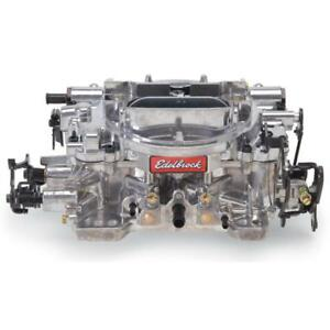 Edelbrock Carburetor 1825 650 Cfm 4 Barrel Manual Choke Vacuum Secondary Satin
