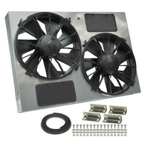 Derale Cooling Fan Assembly 16927 High Output Rad Shrouded 2x12 Dual Electric