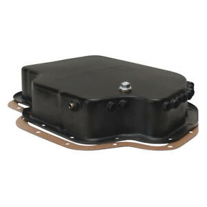 Derale Transmission Oil Pan 14201 3 25 Quarts Black Steel For Chevy Th 400