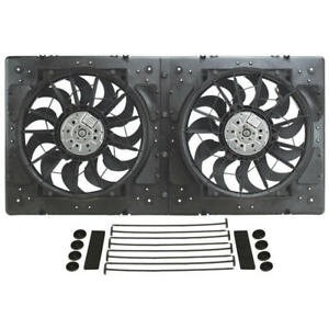 Derale Cooling Fan Assembly 16934 High Output Rad Shrouded 2x13 Dual Electric