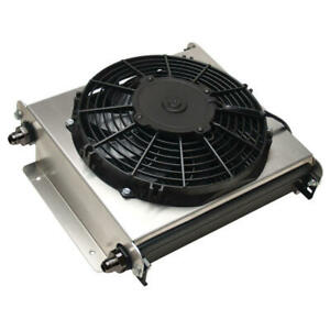 Derale Oil Cooler15870 Hyper Cool Extreme 40 Row Aluminum Stacked Plate Remote