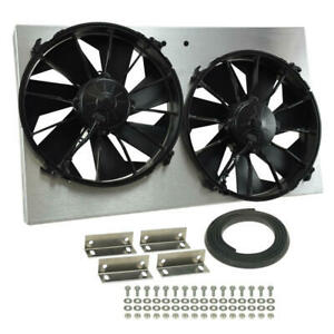 Derale Cooling Fan Assembly 16825 High Output Rad Shrouded 2x12 Dual Electric