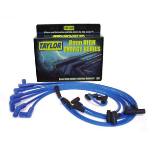 Taylor Spark Plug Wire Set 64628 High Energy 8mm Blue 90 For Chevy V8