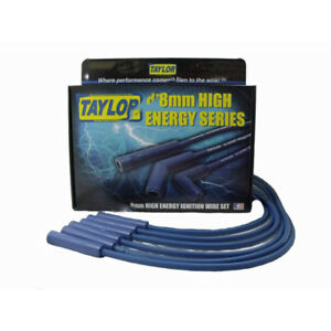 Taylor Spark Plug Wire Set 64630 High Energy 8mm Blue For Chevy 6 Cylinder