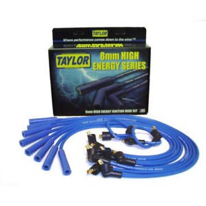 Taylor Spark Plug Wire Set 64671 High Energy 8mm Blue Straight For Chrysler V8