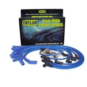 Taylor Spark Plug Wire Set 64663 High Energy 8mm Blue 135 For Chevy Ford V8