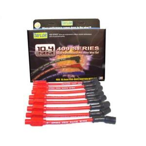 Taylor Spark Plug Wire Set 79203 409 Pro Race 10 4mm Red Straight For Chevy V8