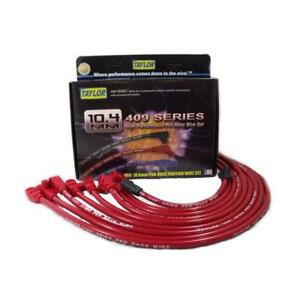 Taylor Spark Plug Wire Set 79281 409 Pro Race 10 4mm Red 90 For Chevy V8