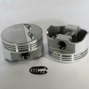 Dss Racing Piston Set 8700 4000 E 4 000 Bore Forged Flat Top For Chevy 350 Sbc