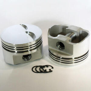 Dss Racing Piston Set 8750 4000 E 4 000 Bore Forged Flat Top For Ford 35