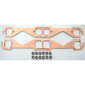 Rpc Exhaust Manifold Gasket Set R7511 Copperseal Copper For Chevy 262 400 Sbc
