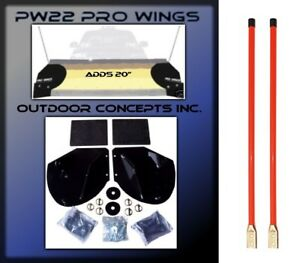 New Snow Plow Pro wing Blade Extensions Pair Of 36 Snowplow Blade Markers Kit