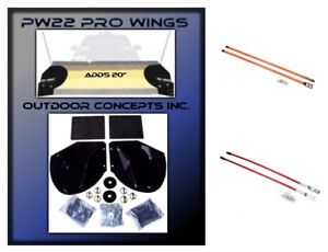 New Snow Plow Pro Wing Blade Extensions Pair Of 27 36 Blade Markers Kit